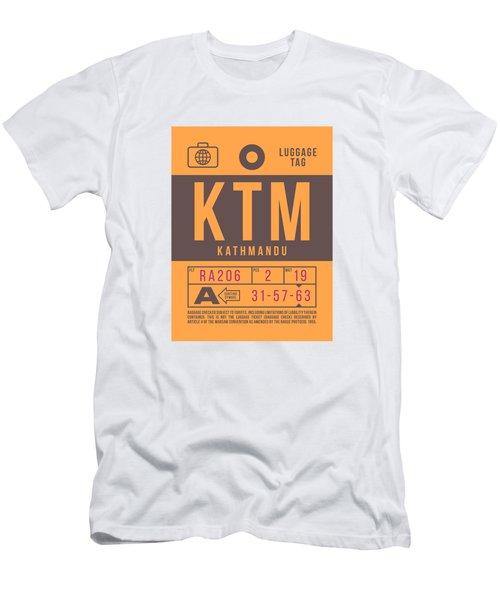 Retro Airline Luggage Tag 2.0 - Ktm Kathmandu Tribhuvan Nepal Men's T-Shirt (Athletic Fit)