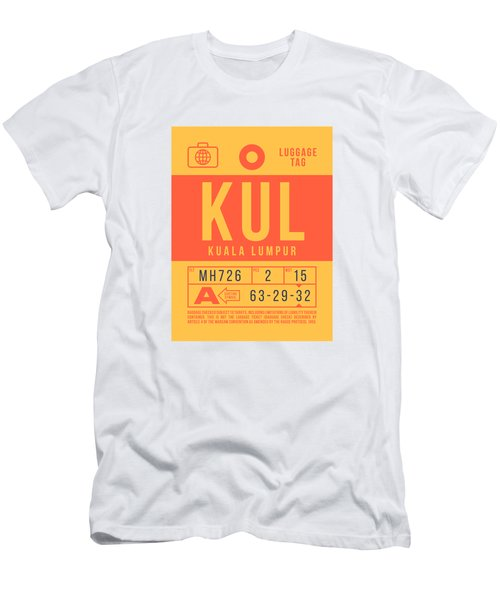Retro Airline Luggage Tag 2.0 - Kul Kuala Lumpur International Malaysia Men's T-Shirt (Athletic Fit)