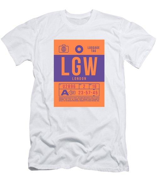 Retro Airline Luggage Tag 2.0 - Lgw London Gatwick Airport United Kingdom Men's T-Shirt (Athletic Fit)