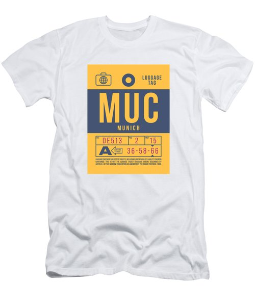 Retro Airline Luggage Tag 2.0 - Muc Munich International Airport Germany Men's T-Shirt (Athletic Fit)
