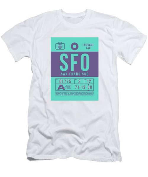 Retro Airline Luggage Tag 2.0 - Sfo San Francisco International Airport United States Men's T-Shirt (Athletic Fit)