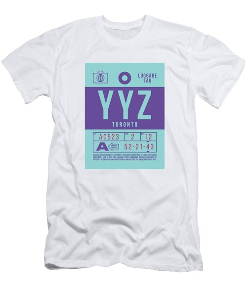 Retro Airline Luggage Tag 2.0 - Yyz Toronto International Airport Canada Men's T-Shirt (Athletic Fit)