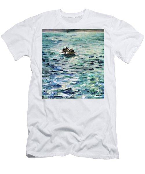 461b50ffab83 Rochefort s Escape - Original Bluecolor Edition Men s T-Shirt (Athletic Fit)