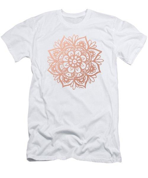 Rose Gold Mandala Men's T-Shirt (Athletic Fit)
