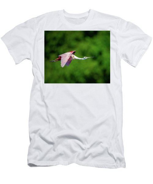 Men's T-Shirt (Athletic Fit) featuring the photograph Roseate Spoonbill by Jeff Phillippi
