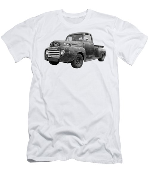 Rusty Ford Farm Truck Black And White Men's T-Shirt (Athletic Fit)