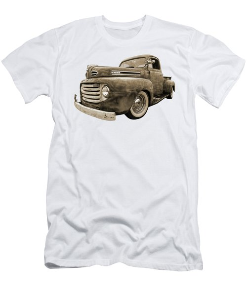 Rusty Jewel In Sepia - 1948 Ford Men's T-Shirt (Athletic Fit)