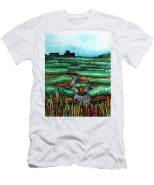 Saltwater Marshes Men's T-Shirt (Athletic Fit)