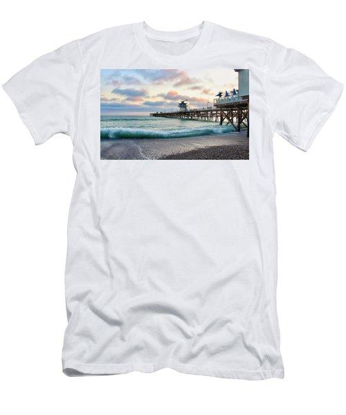 A San Clemente Pier Evening Men's T-Shirt (Athletic Fit)