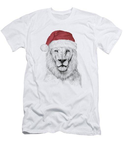 Santa Lion  Men's T-Shirt (Athletic Fit)