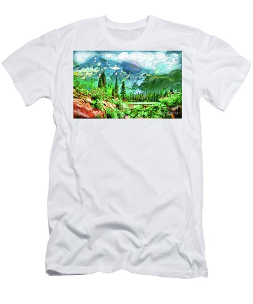 Scenic Mountain Lake Men's T-Shirt (Athletic Fit)