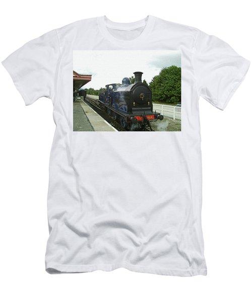 Scotland. Aviemore. Strathspey Railway. Men's T-Shirt (Athletic Fit)