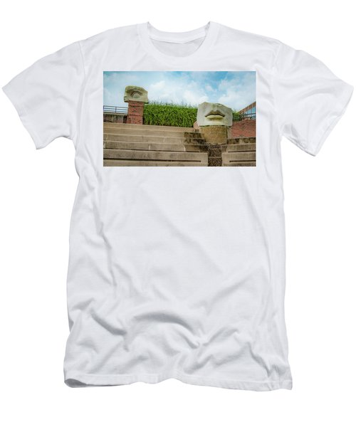 Men's T-Shirt (Athletic Fit) featuring the photograph See No Evil Speak No Evil by Lora J Wilson
