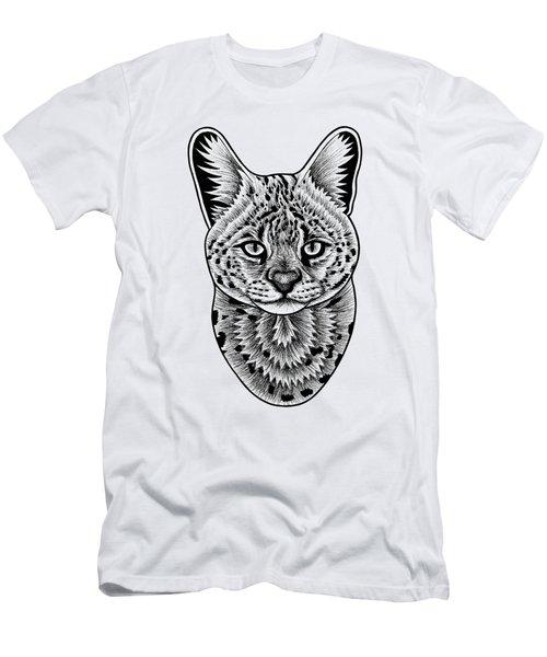 Serval Cat - In Illustration Men's T-Shirt (Athletic Fit)