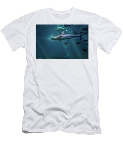 Shark Attack Men's T-Shirt (Athletic Fit)