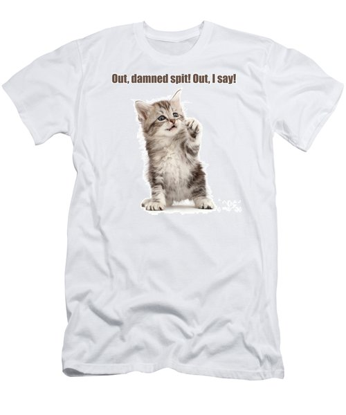 Men's T-Shirt (Athletic Fit) featuring the photograph Shakespurr Lady Macfluff by Warren Photographic