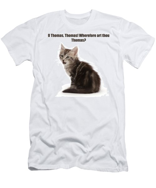 Men's T-Shirt (Athletic Fit) featuring the photograph Shakespurr Thomas And Juliet by Warren Photographic
