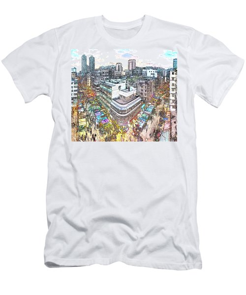 Sham Shui Po District, Kowloon,  Hong Kong Men's T-Shirt (Athletic Fit)