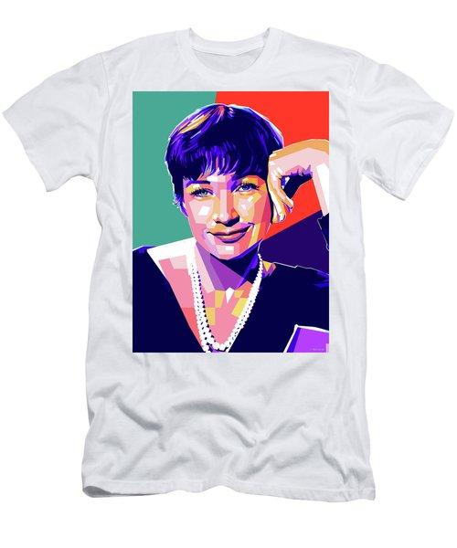Shirley Maclaine Pop Art Men's T-Shirt (Athletic Fit)