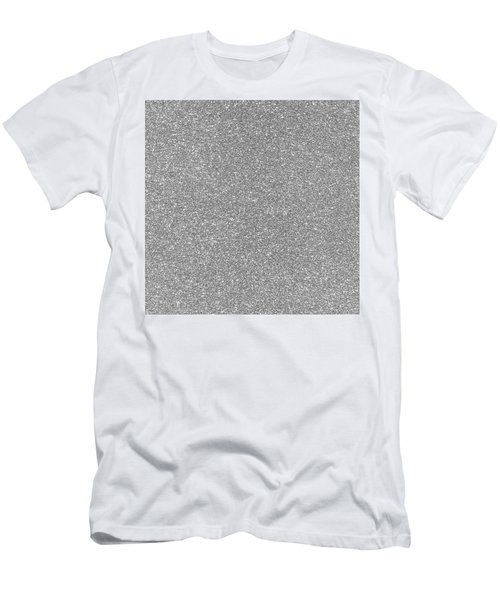 Silver Glitter  Men's T-Shirt (Athletic Fit)