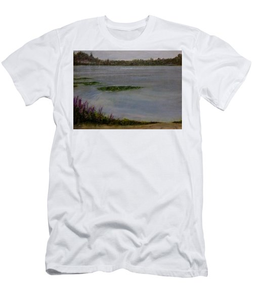 Silver Lake During The Wildfires Men's T-Shirt (Athletic Fit)