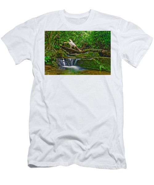 Sims Creek Waterfall Men's T-Shirt (Athletic Fit)