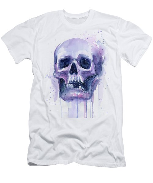 Skull In Space Men's T-Shirt (Athletic Fit)