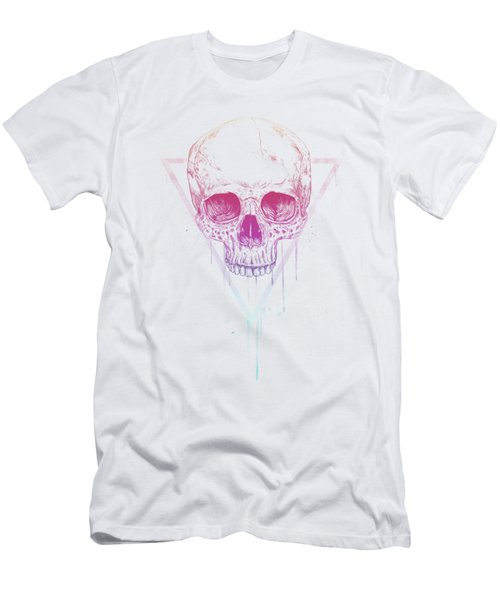 Skull In Triangle Men's T-Shirt (Athletic Fit)