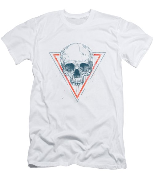Skull In Triangles Men's T-Shirt (Athletic Fit)