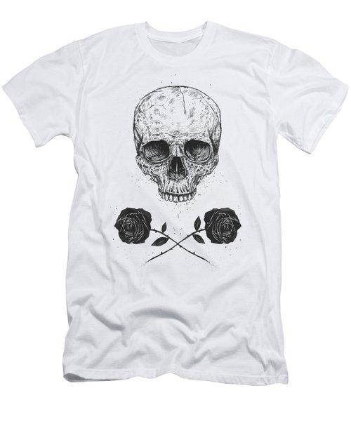 Skull N' Roses Men's T-Shirt (Athletic Fit)