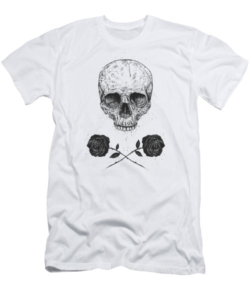 Skull N' Roses Men's T-Shirt (Athletic Fit)