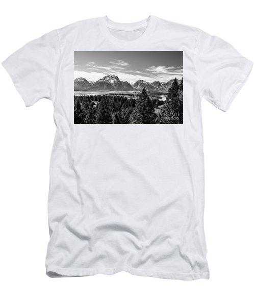 Snake River Teton Mountains Men's T-Shirt (Athletic Fit)