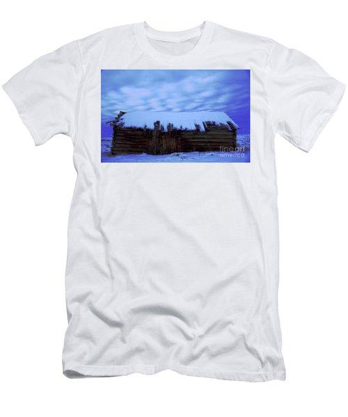 Snowy Cabin  Men's T-Shirt (Athletic Fit)