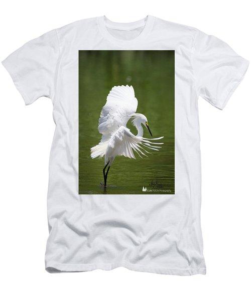 Snowy Dance Men's T-Shirt (Athletic Fit)