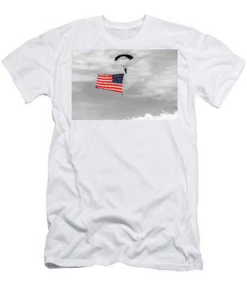 Socom Flag Jump In Selective Color Men's T-Shirt (Athletic Fit)