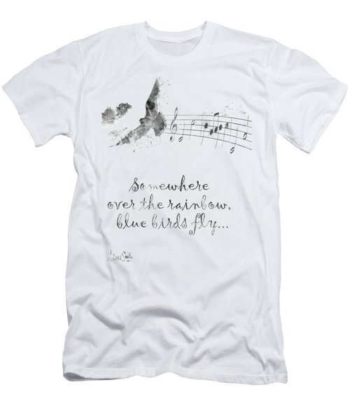 Somewhere Over The Rainbow In Black And White Men's T-Shirt (Athletic Fit)