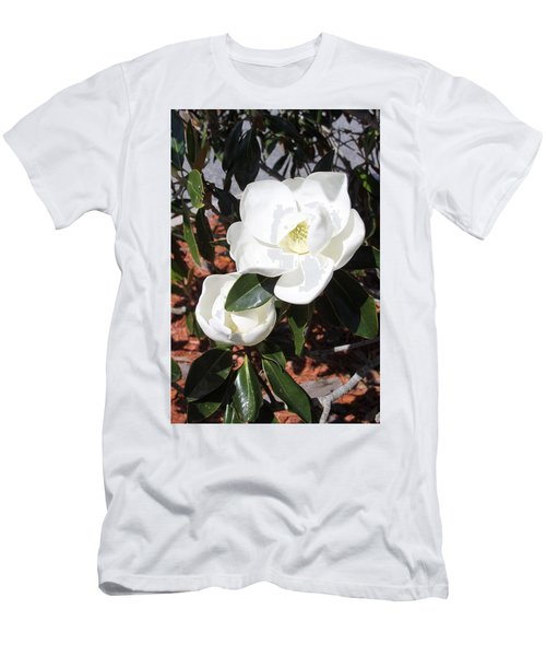 Sosouthern Magnolia Blossoms Men's T-Shirt (Athletic Fit)