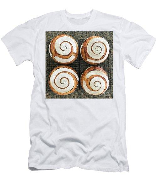 Sourdough Spirals X 4 Men's T-Shirt (Athletic Fit)