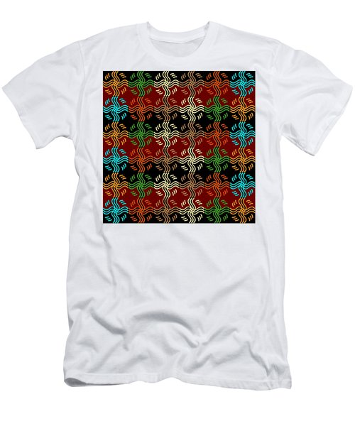 Southwestern Sun Tile Men's T-Shirt (Athletic Fit)
