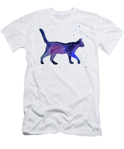 Space Cat Men's T-Shirt (Athletic Fit)