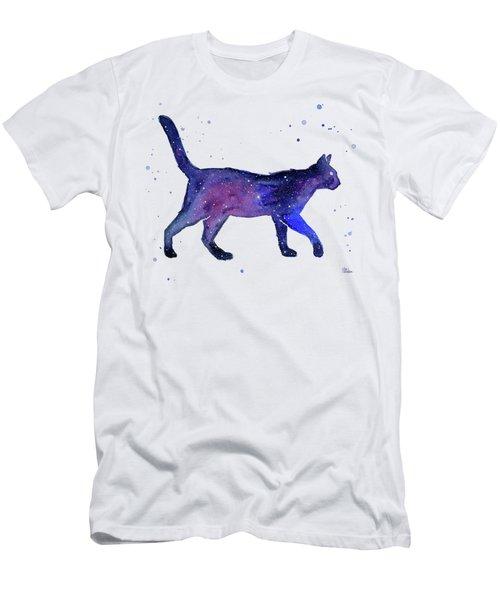 Space Cat Men's T-Shirt (Athletic Fit)