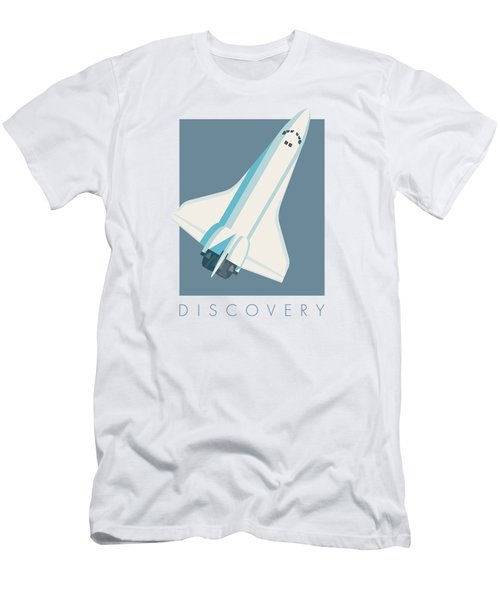 Space Shuttle Spacecraft - Slate Men's T-Shirt (Athletic Fit)
