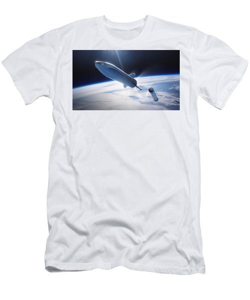 Spacex Bfr Leaving Earth Men's T-Shirt (Athletic Fit)