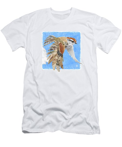 Men's T-Shirt (Athletic Fit) featuring the mixed media Sparrow by Clint Hansen