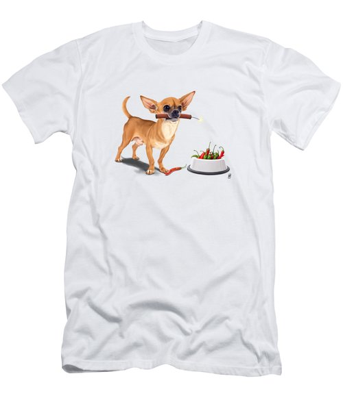 Men's T-Shirt (Athletic Fit) featuring the digital art Spicy Wordless by Rob Snow