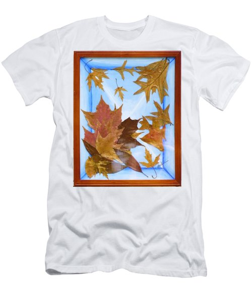 Splattered Leaves Men's T-Shirt (Athletic Fit)