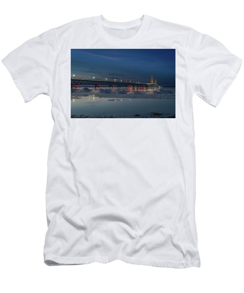Spring Evening At The Mackinac Bridge Men's T-Shirt (Athletic Fit)