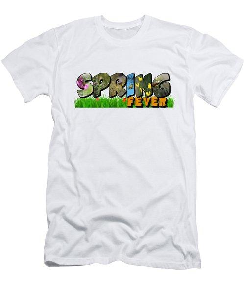 Spring Fever Big Letter Men's T-Shirt (Athletic Fit)
