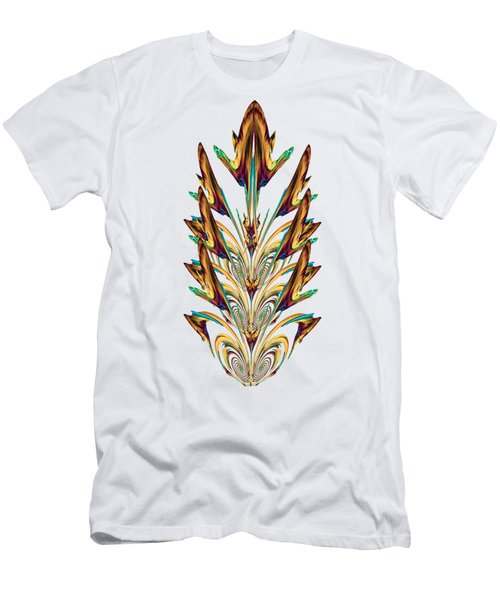 Spritual Bird Sitting On The Peacock Feather Men's T-Shirt (Athletic Fit)