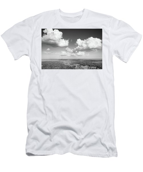 Sri Lankan Clouds In Black Men's T-Shirt (Athletic Fit)